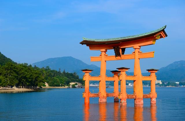広島 宮島の鳥居